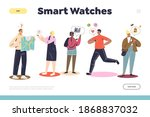smart watches landing page with ... | Shutterstock .eps vector #1868837032