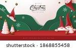 merry christmas banner studio... | Shutterstock .eps vector #1868855458