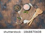 Wooden Kitchen Utensils And...