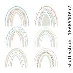 scandinavian rainbows set for... | Shutterstock . vector #1868910952