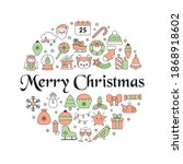 christmas greeting card with... | Shutterstock .eps vector #1868918602
