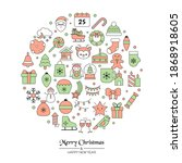 christmas greeting card with... | Shutterstock .eps vector #1868918605