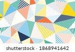 polygonal linear color seamless ... | Shutterstock .eps vector #1868941642