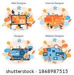 web design concept set....