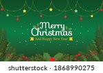 christmas background in flat... | Shutterstock .eps vector #1868990275