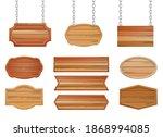 wooden banner vector design...   Shutterstock .eps vector #1868994085