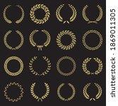 laurel wreath collection...   Shutterstock .eps vector #1869011305
