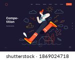 business topics  competition ...   Shutterstock .eps vector #1869024718