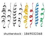 spiral ribbon vector cartoon...   Shutterstock .eps vector #1869032368