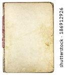 old vintage paper spiral...   Shutterstock . vector #186912926