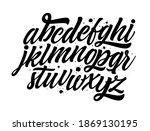 script font. hand lettering and ... | Shutterstock .eps vector #1869130195