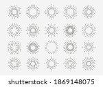 starburst vintage set. 20... | Shutterstock .eps vector #1869148075