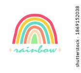 rainbow in trendy scandinavian... | Shutterstock .eps vector #1869152038