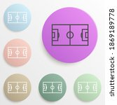 football field badge color set. ...