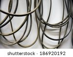 Belts for engine - stock photo