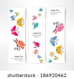 card butterfly color vector | Shutterstock .eps vector #186920462