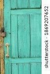 Greenish Wooden Old Door Of A...