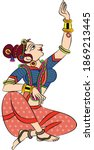 lord's gopika  sevika  or lady...   Shutterstock .eps vector #1869213445