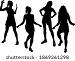 group of people. black... | Shutterstock . vector #1869261298