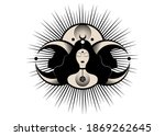 wiccan woman icon  triple... | Shutterstock .eps vector #1869262645