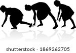 women silhouettes on a white... | Shutterstock . vector #1869262705