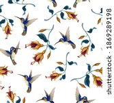 seamless pattern with...   Shutterstock .eps vector #1869289198