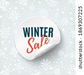 winter sale round banner. price ... | Shutterstock .eps vector #1869307225