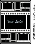 poster your photo on black... | Shutterstock . vector #186932312