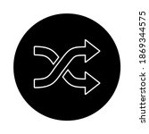 shuffle outline vector icon...