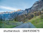 rocky mountains and autumnal... | Shutterstock . vector #1869350875