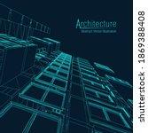 architecture line background.... | Shutterstock .eps vector #1869388408