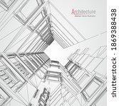 architecture line background.... | Shutterstock .eps vector #1869388438