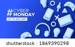 cyber monday web template... | Shutterstock .eps vector #1869390298