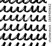 hand drawn black rippled lines... | Shutterstock .eps vector #1869404662