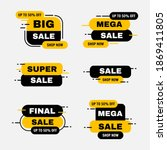 set labels with black and... | Shutterstock .eps vector #1869411805