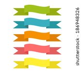 set of ribbons of different... | Shutterstock .eps vector #186948326
