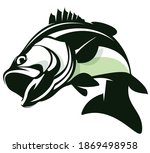 bass fishing logo  unique and...   Shutterstock .eps vector #1869498958