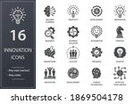 innovation icons  such as... | Shutterstock .eps vector #1869504178