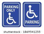 disabled parking sign blue... | Shutterstock .eps vector #1869541255