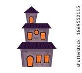 halloween haunted castle... | Shutterstock .eps vector #1869552115