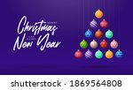christmas and new year greeting ... | Shutterstock .eps vector #1869564808