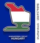 hungary grand prix race track...   Shutterstock .eps vector #1869579898