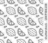 vector seamless fruit pattern.... | Shutterstock .eps vector #1869586108