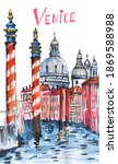 Boat Pier In Venice Print....