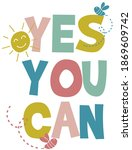 cute funny positive slogan... | Shutterstock .eps vector #1869609742