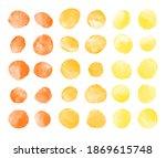 amber yellow  orange watercolor ... | Shutterstock . vector #1869615748
