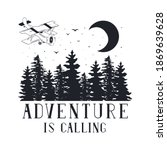 hand drawn adventure is calling ... | Shutterstock .eps vector #1869639628