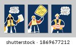 collection of posters with... | Shutterstock .eps vector #1869677212