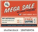 retro sale banner | Shutterstock .eps vector #186968456