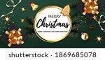 christmas festive luxury banner.... | Shutterstock .eps vector #1869685078